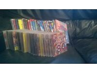 30 cds and 20 dvds