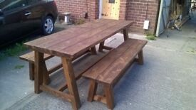 SOLID HAND MADE BEDS,TV UNIT,COFFEE/DINING TABLES,DRESSERS,SIDEBOARDS,GARDEN BENCHES , LOOK