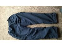 Men's elasticated fleece lined trousers XL size