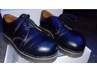 Dr Martins Steel Toe cap Shoe Black Size 4 Good Condition Vintage 1987