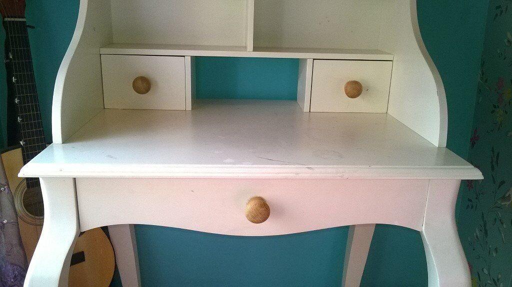 Vintage Style White Writing Desk Next