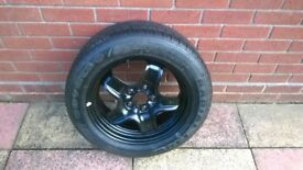 vauxhall zafira full size spare wheel & tyre