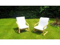 Set of 2 Bent wood garden chairs in great condition