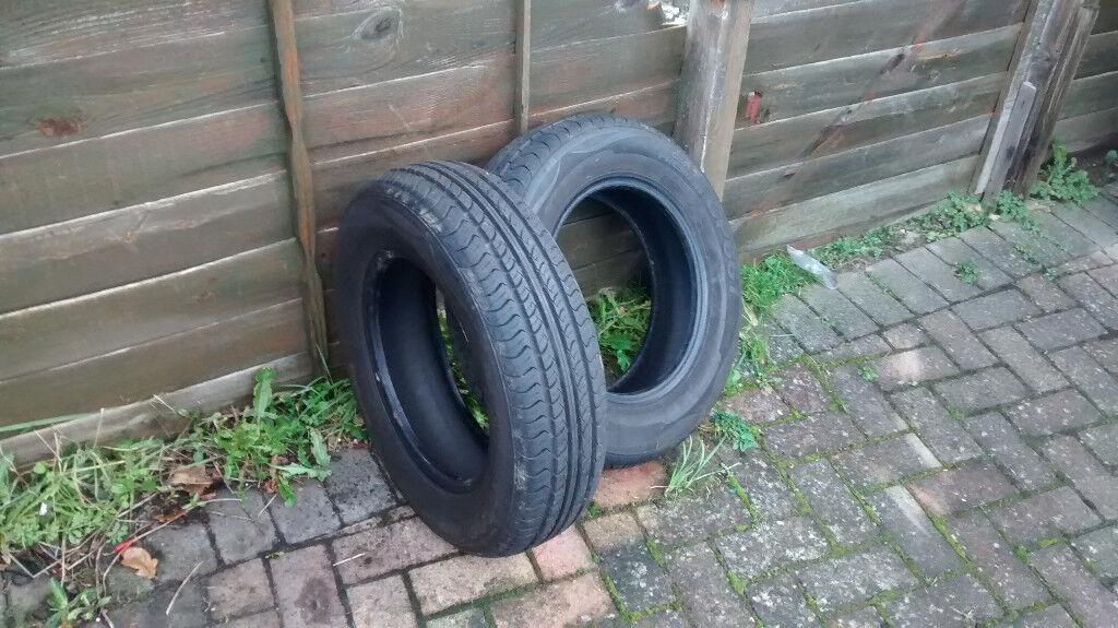 2x Part-worn 185/70 R14 Tyres