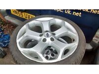 """FORD FOCUS ST 18"""" ALLOY X 1 GENUINE RONAL/FORD STAMP,LEGAL TYRE"""