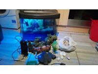 fish tank 70l with accessories
