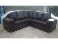 Leather Corner Sofa Brand New and unused, colour brown, can deliver.