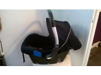 NICE CLEAN SILVER CROSS BABY CAR SEAT / CARRIER NEWBORN +