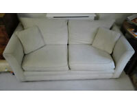 TWO Sofa's (both 3 seaters, 1 is a Sofa Bed ) for 250 GBP - Beige Fabric - Good condition