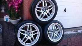 Deep dish alloys came off my bmw 530 tyres good full set 5 wheels. Staggered! 295