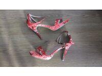 Ladies Floral Patterned Shoes Size 6