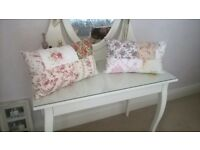 Handmade Vintage style boudoir style cushions