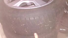 Alloy wheels with almost new winter goodyear tyres