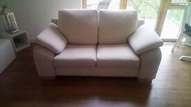 Comfy two seater sofa neutral colour in great condition