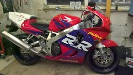 Honda fireblade.1999.Red/purple.Nice condition.New m.o.t.Many new parts.