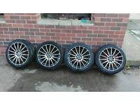 "ford focus fiesta peugeot 207 208 308 4x 17"" Alloy wheels and tyres 215/45/17"
