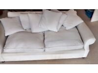 Calico natural cover large 2 seater Sofa