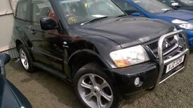 breaking Mitsubishi Shogun 3.2di-d SWB for parts only. TOWBAR, doors,diff ,shaft,airbags, cookstown