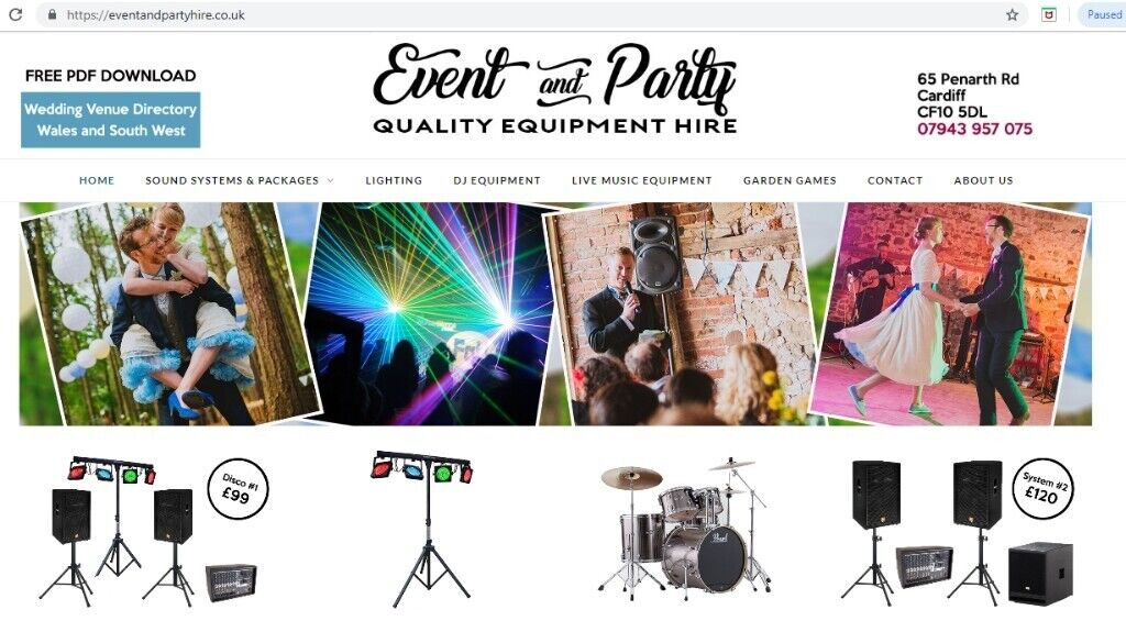 Event and Party Hire Equipment Business for Sale | in Grangetown, Cardiff |  Gumtree