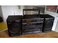 Panasonic RX - DT610 Boombox CD double tape radio detachable speakers great central London bargain
