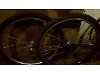 mountain bike wheels 26 inch 3 sets available all with tyres and tubes