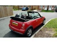 Mini cooper convertible 1.6cc red alloys 120k fsh mot