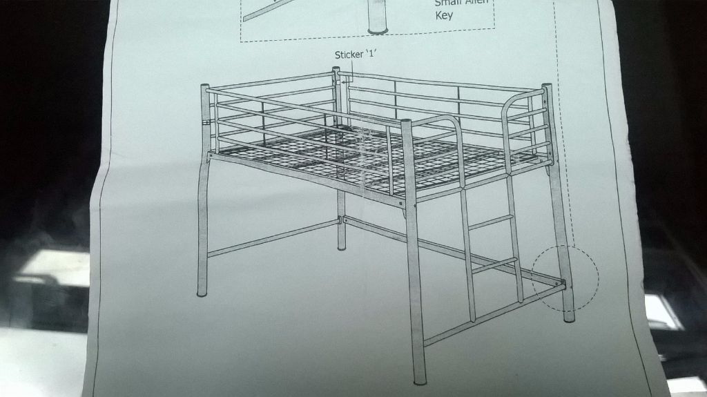 Ikea Extra Firm Mattress Cabin bed, silver metal with integrated ladder | in Bexley ...