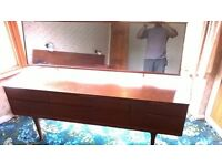 Antique 50s Beautiful Austin Suite 6 draw dressing table with adjustable mirror