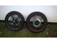 R125 wheels and tyres