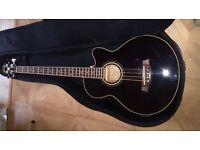 ibanez AEB8E-BK Acoustic Bass