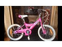 Kids pink bike
