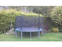 12 ft Leapfrog Trampoline With Safety Enclosure For Sale