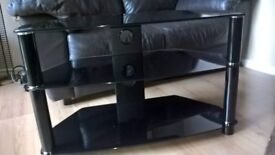 black tv stand ammaculate condition