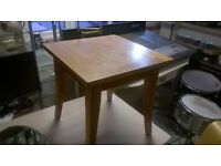 Square Solid Wood Side Table in Good Condition