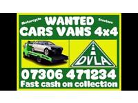 ♻️‼️SELL MY CAR VAN BIKE FOR CASH ANY CONDITION SCRAP DAMAGED NON RUNNING FAST COLLECTION TODAY 1E
