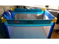 Little tikes travel cot and baby toy
