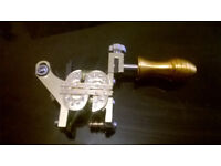 gold dollar $ tattoo gun with grip -new-