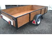 NEW BUILD CAR TRAILER 4 FT X 8 FT HAS REMOVABLE FOLD DOWN BACK DOOR
