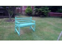 Rustic garden bench from 100% recycled timber.