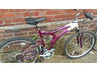 Ladies full suspension mountain bike for sale