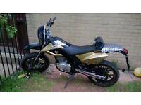 AJS supermoto 125 motorbike