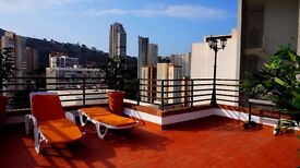 BENIDORM nice Penthouse for holiday rent with large private terrace