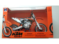 New Ray Toy 1:10 STANDARD FACTORY GRAPHIC KTM SXF 450 2014 Xmas Gift Toy Bike