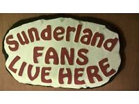 Outdoor Sunderland fan football plaque - handmade, brand new, ideal gift for SAFC supporters