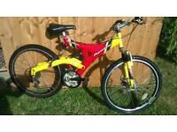 """Apollo vendetta 26"""" full suspension mountain bike"""
