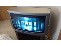 JVC TV + TV Stand + Freeview Box and Remotes