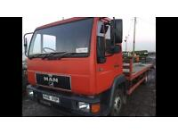 MAN L2000 8 163 recovery truck beavertail transporter