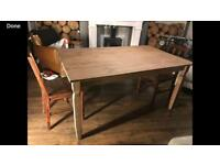 Ikea wooden farmhouse style table and chairs