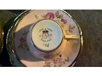 42 piece clare bone china set