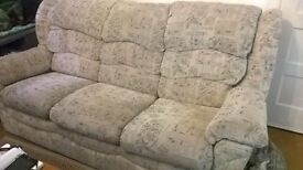 3 piece suite with large footstool